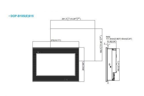 DOP-B10S615-DOP-B-Series-HMI-Touchscreen-Delta-AC-Drive-Diagram