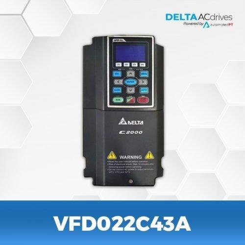 VFD022C43A-VFD-C2000-Delta-AC-Drive-Front